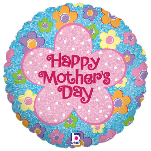 "Balloon 9"" Happy Mothers Day Hologram"