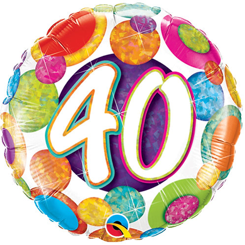"Balloon 18"" Foil 40th Birthday"