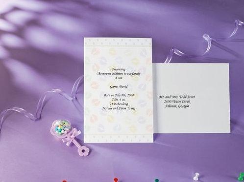 Baby Footprints Invite 12Ct