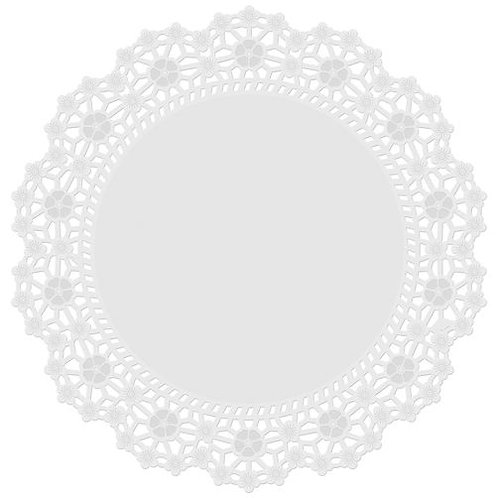 12 In Doilies White