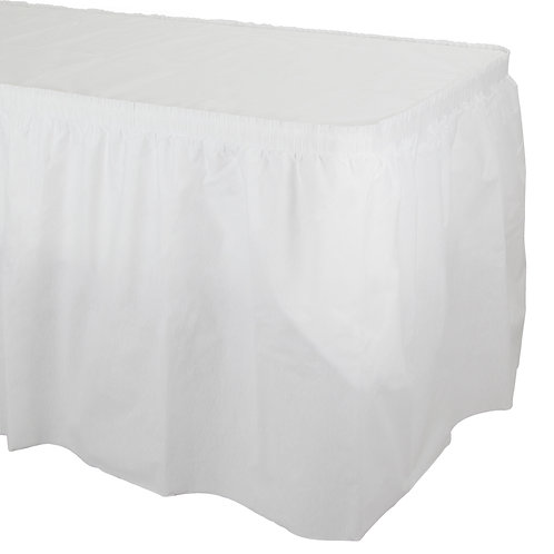 White Form&Function - Pleated Table Skirt
