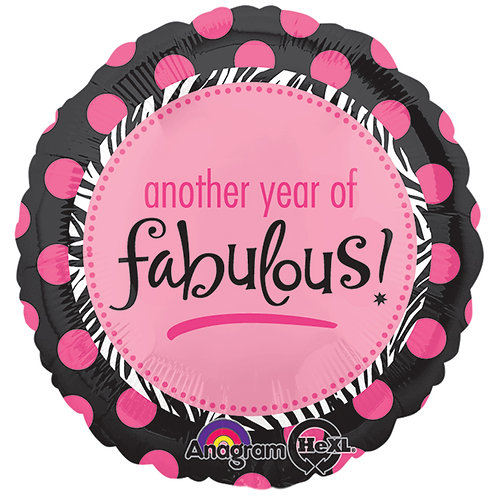"""Balloon Foil 18"""" Another Year Of Fabulous!"""