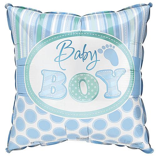 "Balloon Foil 18"" Baby Boy Dots"