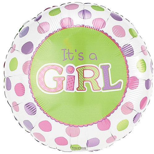 "Balloon Foil 18"" Its A Girl Pink"