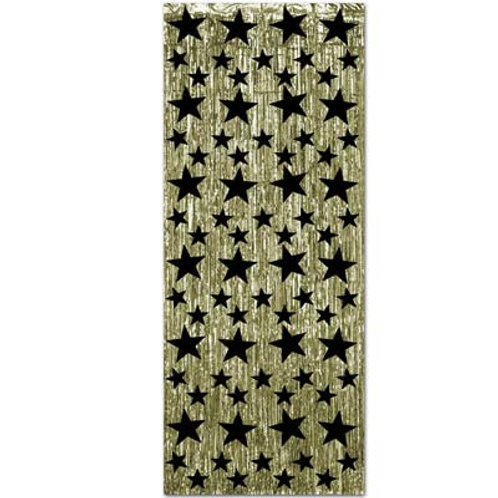 Black and Gold Gleaming Curtain