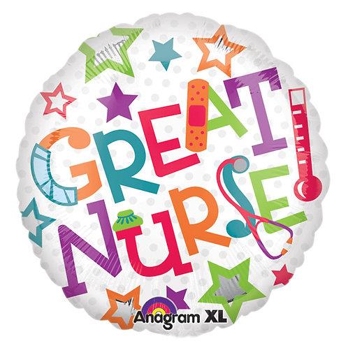 """Balloon Foil 18"""" Great Nurse"""
