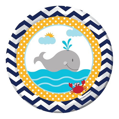 """Ahoy Matey Luncheon Plate 7"""" (8ct)"""