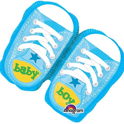 """Balloon Foil 10"""" Baby Boy Sneaker"""
