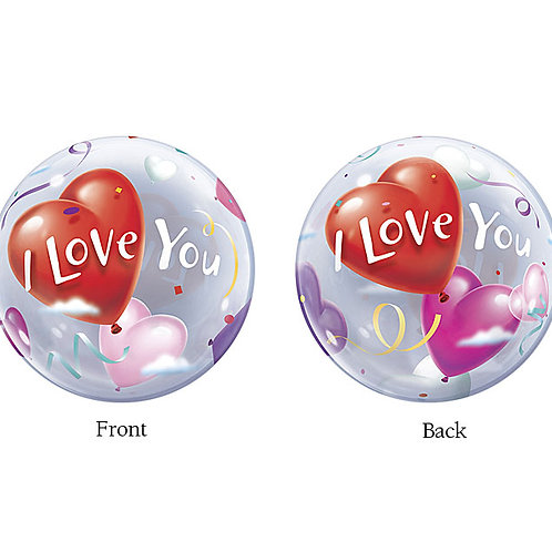 "Balloon Bubble 22"" I Love You"