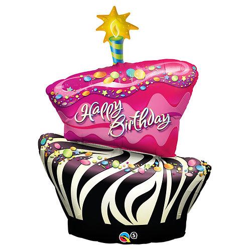 "Balloon 41"" Zebra Funky Cake"
