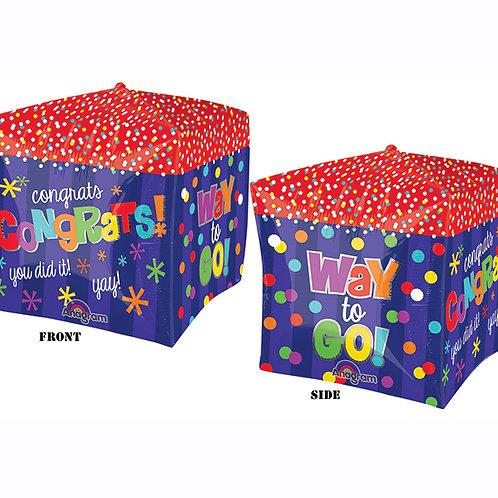 """15"""" Balloon Congrats Cubez"""