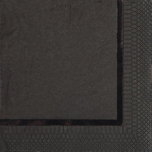 Glitz Black Beverage Napkin (16ct)