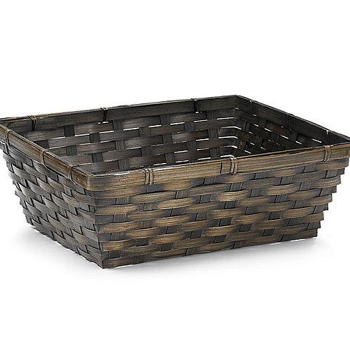 "Basket 12"" Square Dark Bamboo"