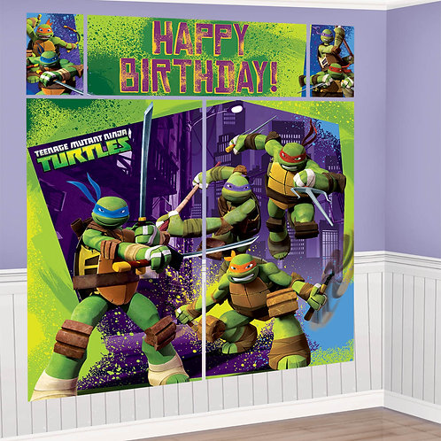 Teenage Mutant Ninja Turtle Scene Setter Wall (5Ct)