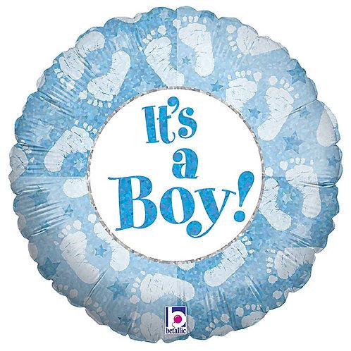 "Balloon Foil 18"" Boy Footprint"