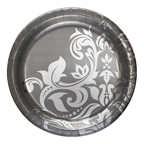 """25th Anniversary Banquet Plate 10"""" (18ct)"""