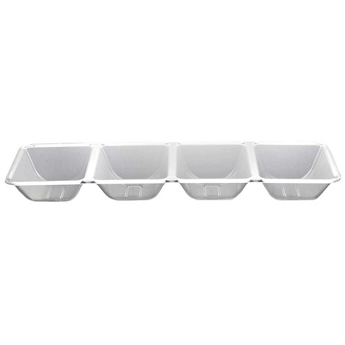 4 Compartment Tray - Clear