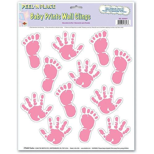 Baby Print Wall Clings Pink