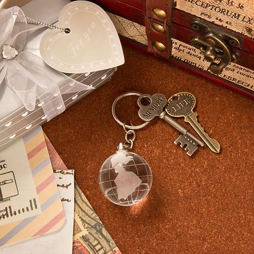 Key Chain Crystal Globe