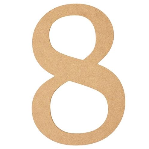 "Wooden 10"" Number '8'"