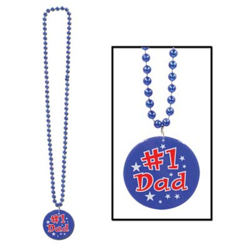 #1 Dad Beaded Necklace
