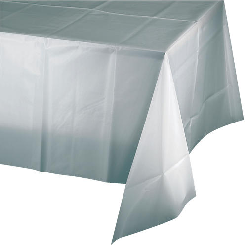 """Silver Shimmering Tablecover Rectangular  54""""X108"""""""