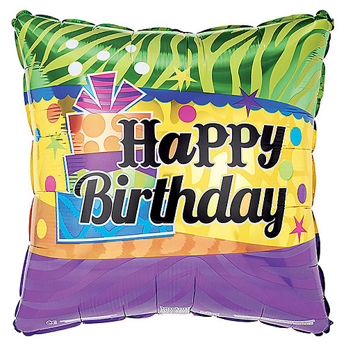 "Balloon Foil 17"" Happy Birthday Gift"
