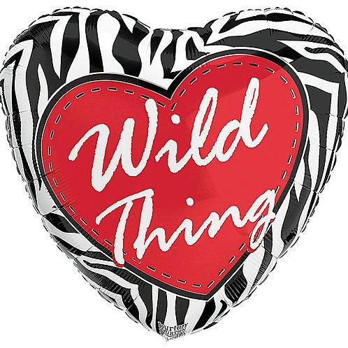 """Balloon Foil 17"""" Wild Thing"""