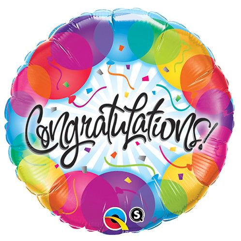 """Balloon 18"""" Congratulations"""