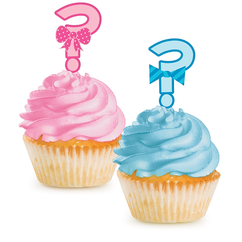 Bow or Bowtie Cupcake Toppers (12ct)