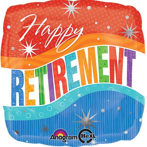 "Balloon Foil 18"" Happy Retirement"