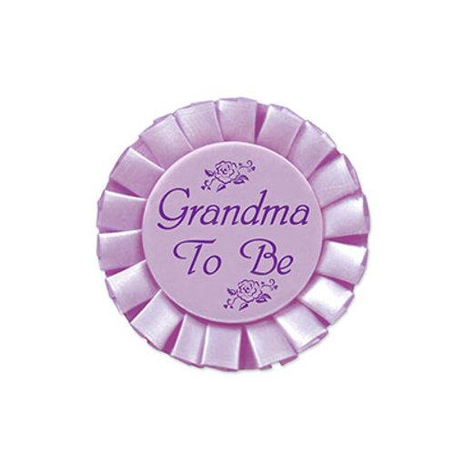 Grandma to Be Satin Button