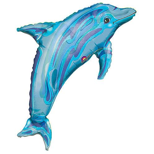 "Balloon Foil 37"" Dolphin Blue"