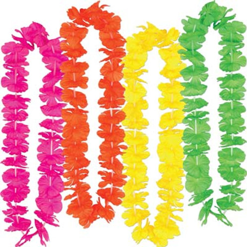 Leis with Neon Petals