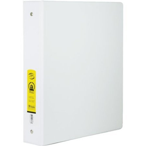 "1.5"" White 3-Ring Binder with 2 Pockets"