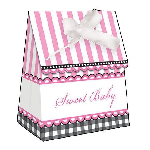 Sweet Baby Feet - Pink Favor Bag W/ Ribbon (12Ct)