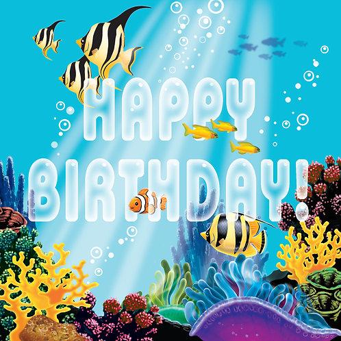 Ocean Party Luncheon Napkin (16Ct) Happy Bday