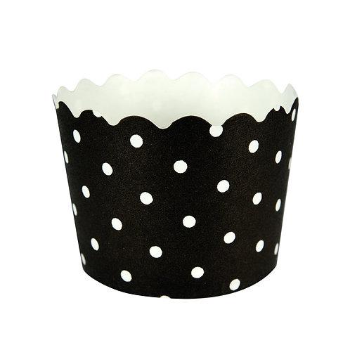Baking Cups Polka Dot Bake Cup - Black Velvet (12 ct)