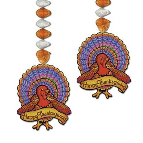 "Thanksgiving Turkey Dangler 2ct 30"""