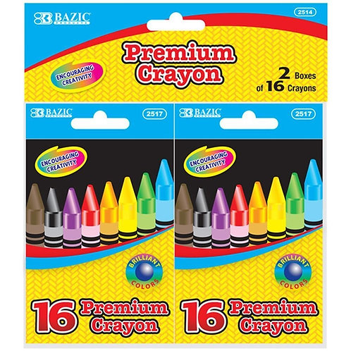 16 Color Premium Quality Crayon (2/Pack)