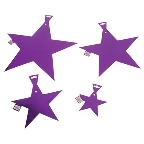"Star Foil 9"" Purple"