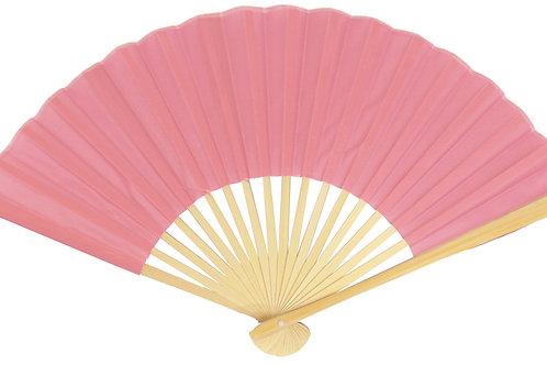 """Fan Hand 9"""" Silk Pink"""