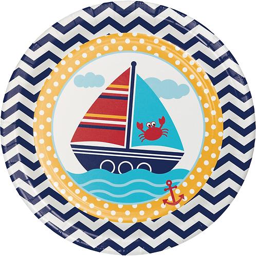 "Ahoy Matey Dinner Plate 8.75"" (8ct)"