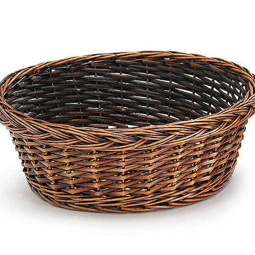 "Basket 12"" Round Dark"