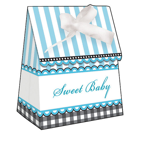 Sweet Baby Feet - Blue Favor Bag W/ Ribbon (12Ct)