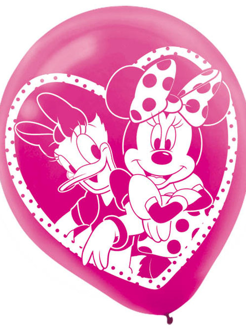 Minnie Mouse Latex Balloon (6Ct)