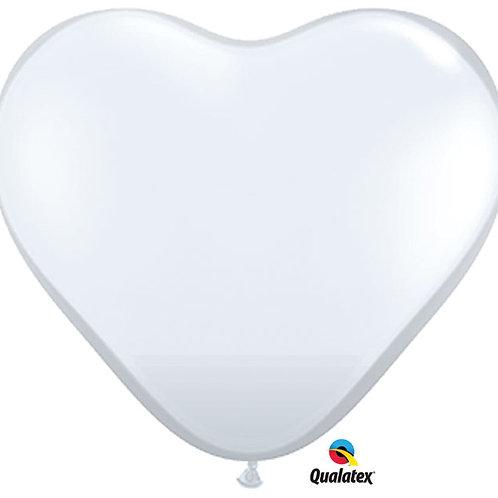 "Balloon Latex 11""Clear Heart 100C"