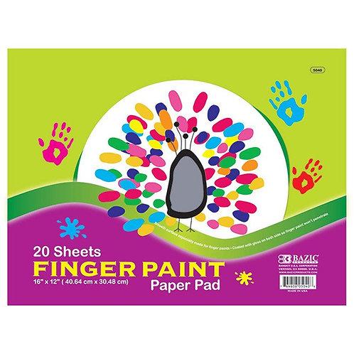 """20 ct. 16"""" x 12"""" Finger Paint Paper Pad"""