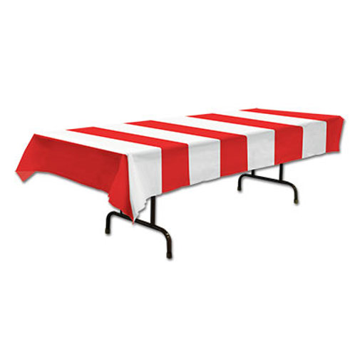 Red and White Tablecover