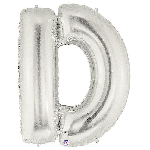 "Balloon Foil 40"" Letter ""D"" Silver"